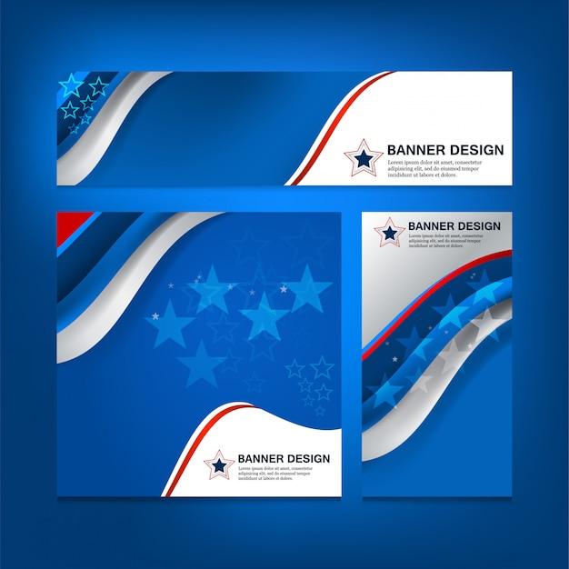 Usa-flaggen-hintergrund für unabhängigkeitstag Premium Vektoren
