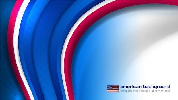 Usa-hintergrund für unabhängigkeitstag Premium Vektoren