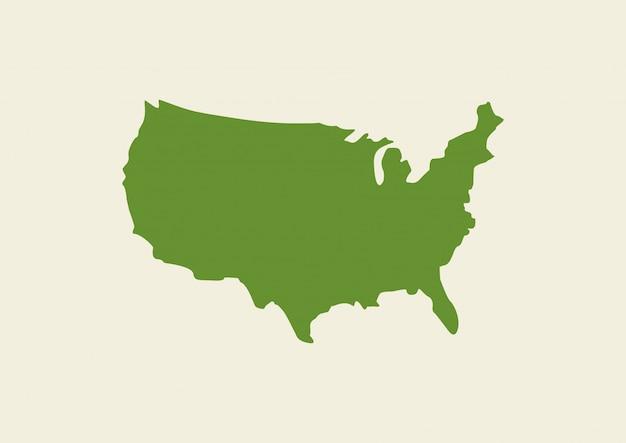 Usa-karte auf hintergrund isoliert Premium Vektoren
