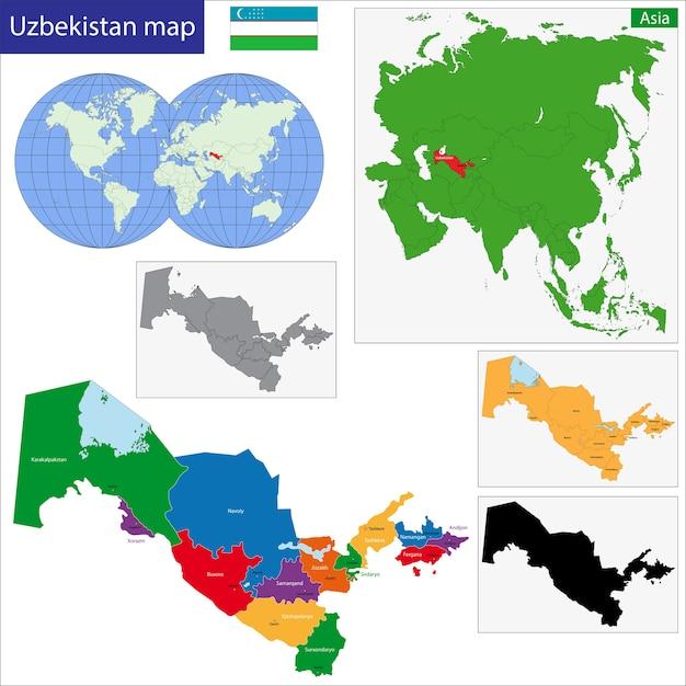 Usbekistan Karte.Usbekistan Karte Download Der Premium Vektor