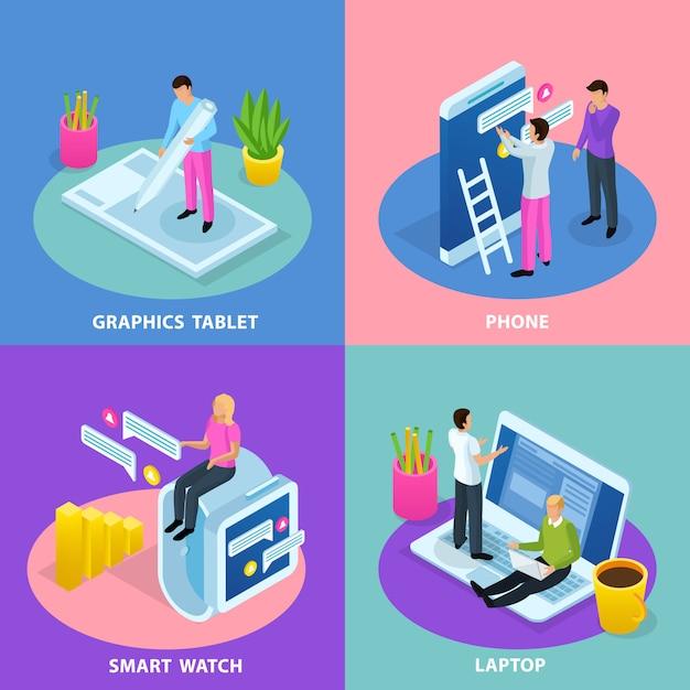 User interface concept abbildung Kostenlosen Vektoren