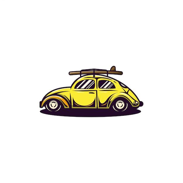 V w käfer-logo Premium Vektoren