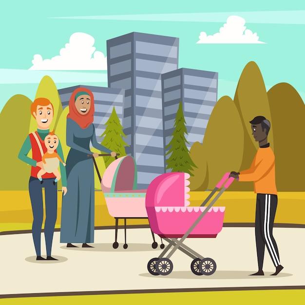 Väter elternurlaub orthogonal Kostenlosen Vektoren