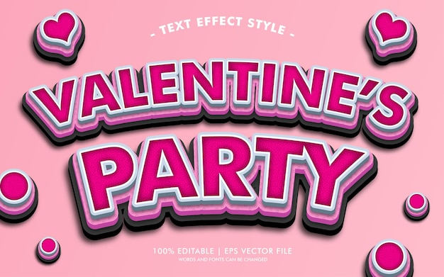 Valentine's party text wirkt stil Premium Vektoren
