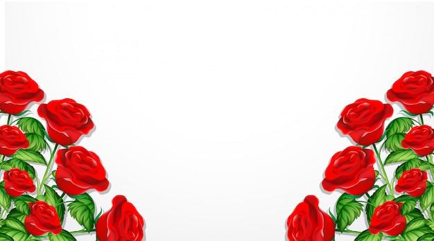 Valentine-thema mit roten rosen Kostenlosen Vektoren