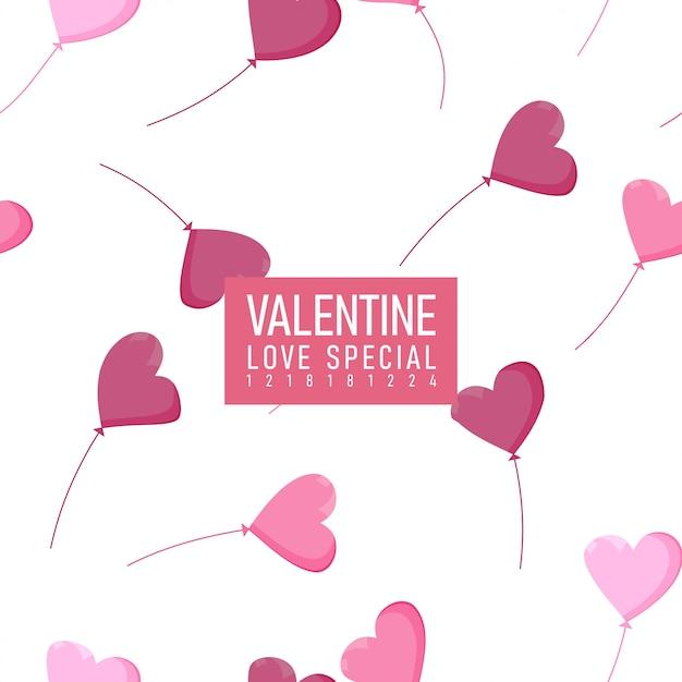 Valentinsgruß-nahtloses muster - liebes-specials Premium Vektoren