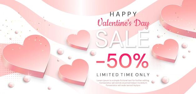 Valentinstag banner Premium Vektoren