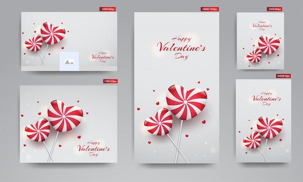 Valentinstag-banner, Premium Vektoren