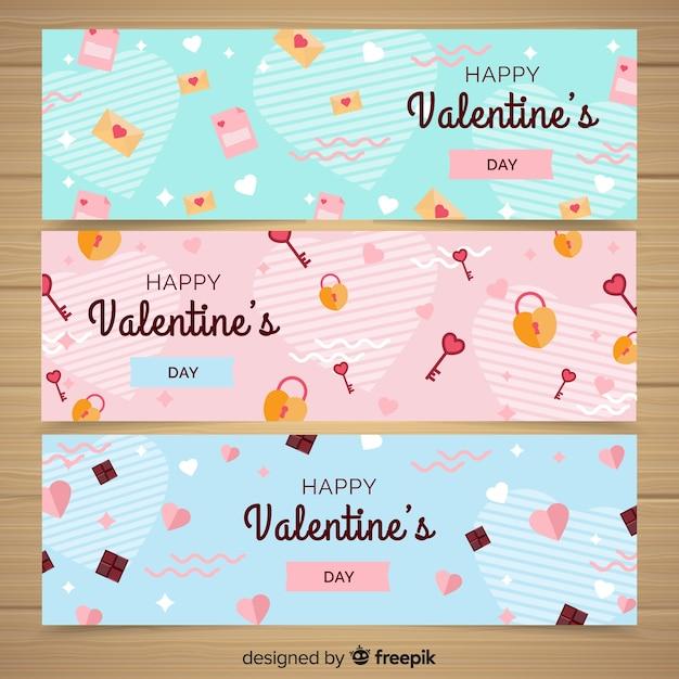 Valentinstag-banner Kostenlosen Vektoren