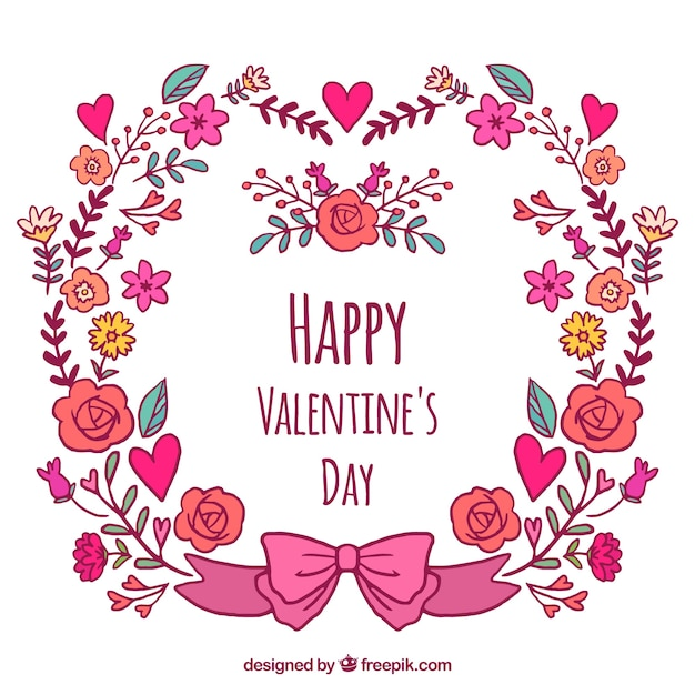 Valentinstag Blumenkränze und Blumensträuße   Download der ...