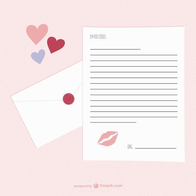 Valentinstag Briefvorlage Download Der Kostenlosen Vektor