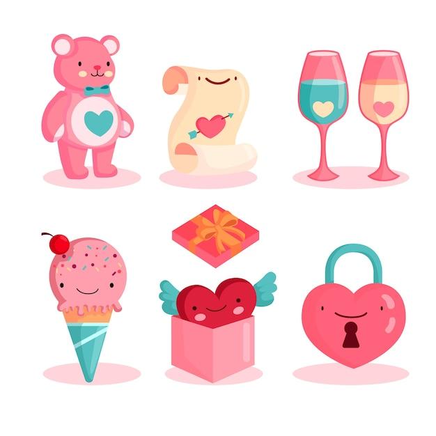 Valentinstag-element-pack Kostenlosen Vektoren