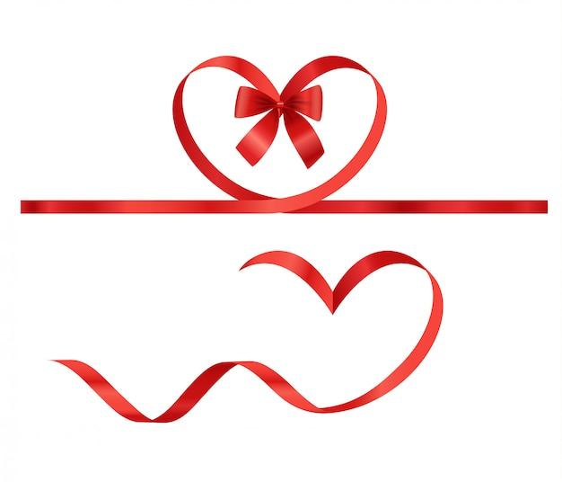 Valentinstag-elemente. vektorfarbbänder Premium Vektoren