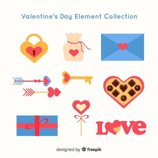 Valentinstag-elementsammlung Kostenlosen Vektoren