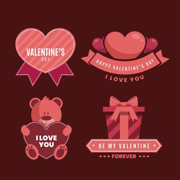 Valentinstag etiketten Kostenlosen Vektoren