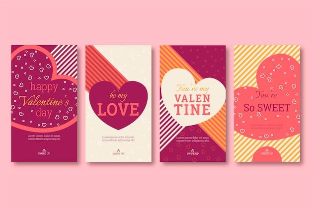 Valentinstag geschichte vorlage sammlung Kostenlosen Vektoren