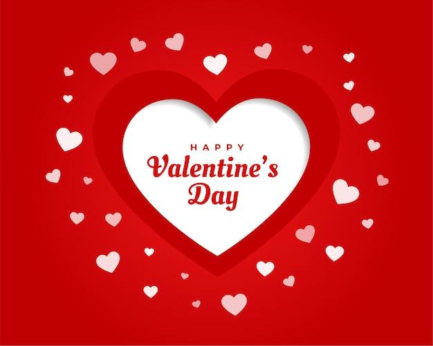 Valentinstag grußkarte mit herzen Kostenlosen Vektoren