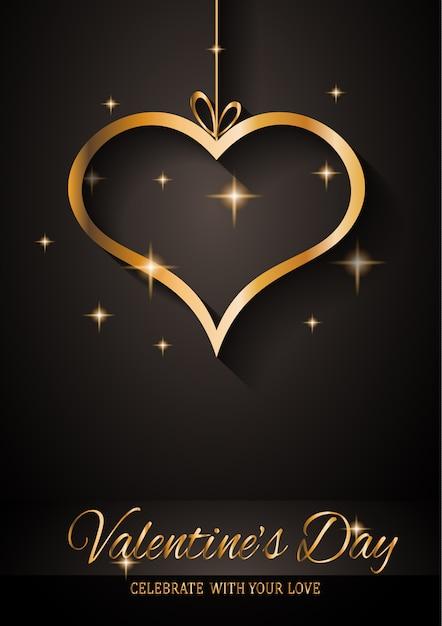 Valentinstag-grußkarte Premium Vektoren