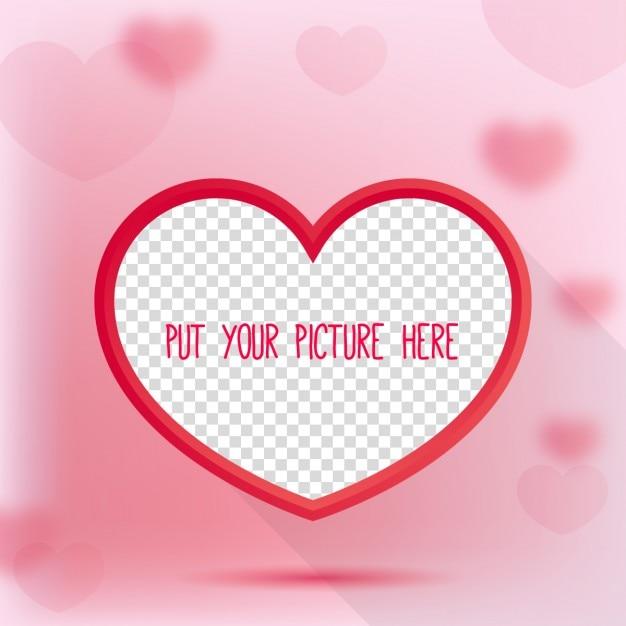 Valentinstag-herz-bilderrahmen Kostenlosen Vektoren