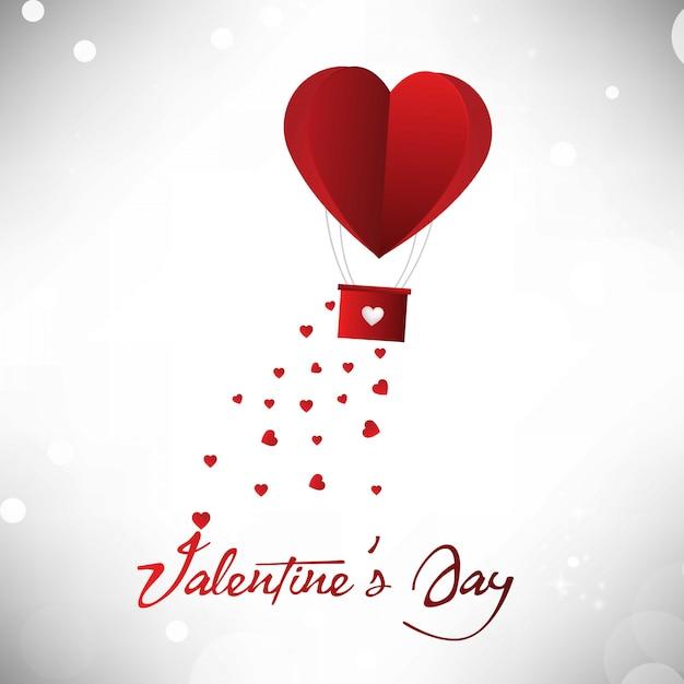 Valentinstag herzballon Premium Vektoren