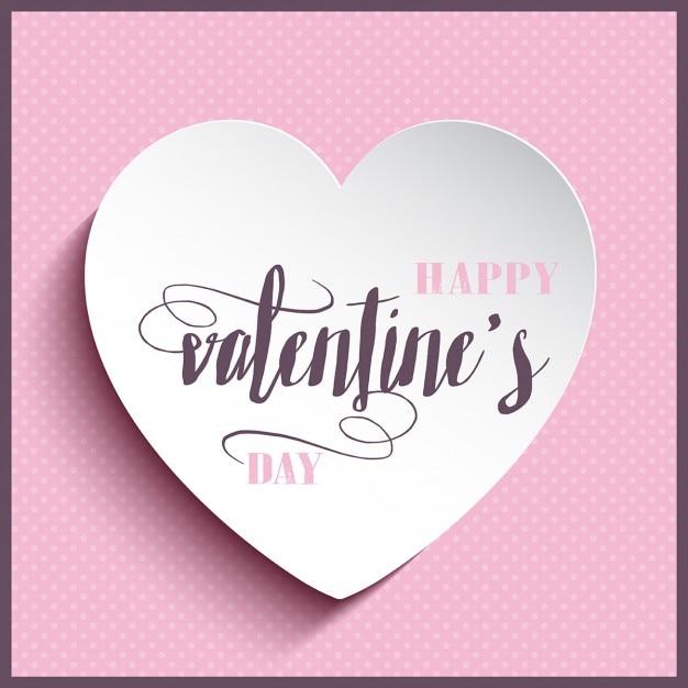 valentinstag hintergrund mit herzen und dekorative text