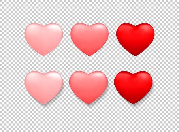 Valentinstag hintergrund mit roten herzen Premium Vektoren