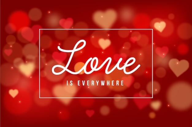 Valentinstag hintergrund mit unscharfen herzen Kostenlosen Vektoren
