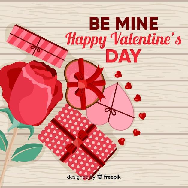 Valentinstag hintergrund. Kostenlosen Vektoren