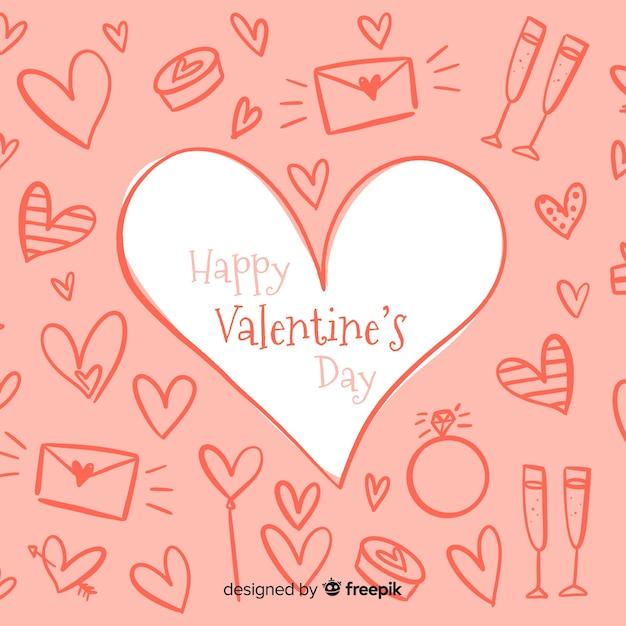 Valentinstag Hintergrund Download Der Kostenlosen Vektor
