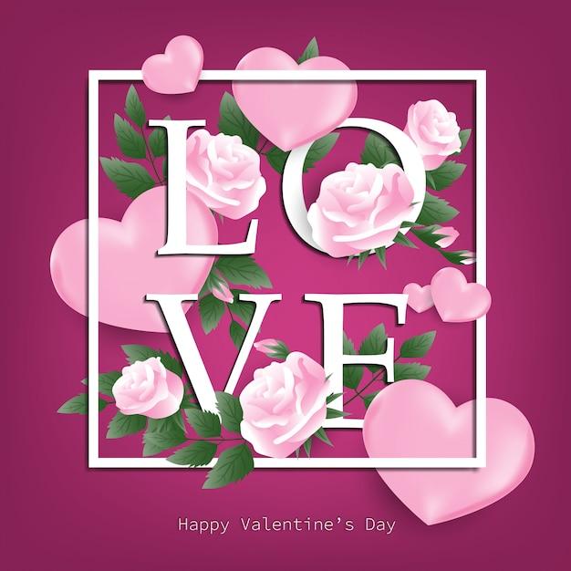 Valentinstag hintergrund. Premium Vektoren