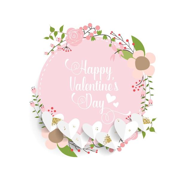 Valentinstag hintergrunddesign. Premium Vektoren
