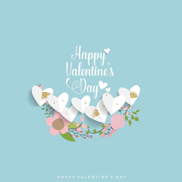 Valentinstag hintergrunddesign Premium Vektoren