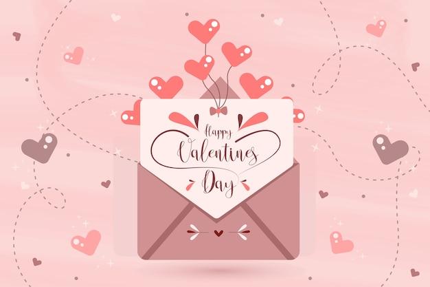 Valentinstag hintergrundkonzept Kostenlosen Vektoren
