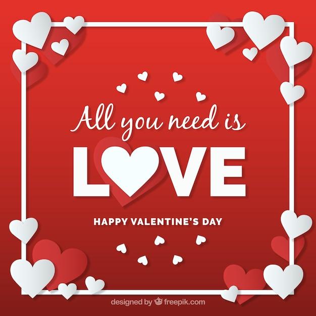 Valentinstag Im Papierarthintergrund Kostenlose Vektoren