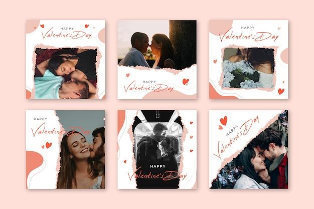 Valentinstag instagram beitragssammlung Kostenlosen Vektoren