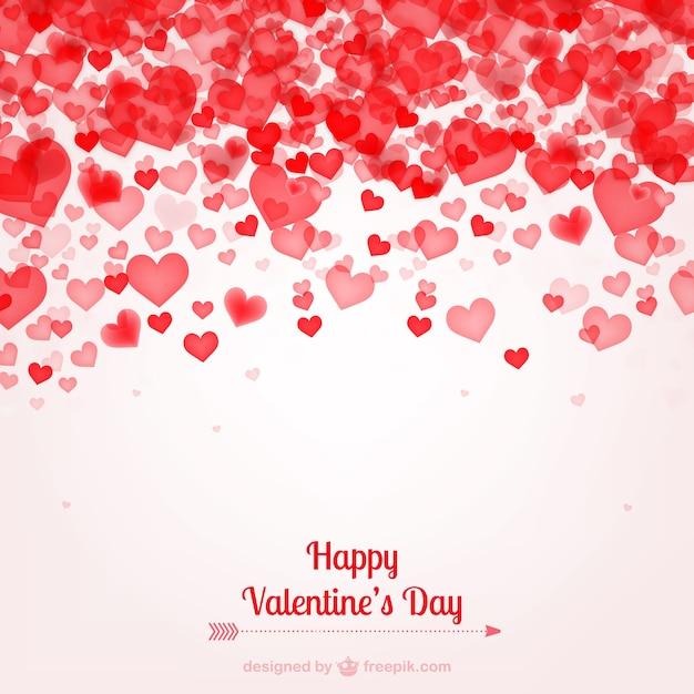 Valentinstag-Karte mit Herzen   Download der kostenlosen Vektor