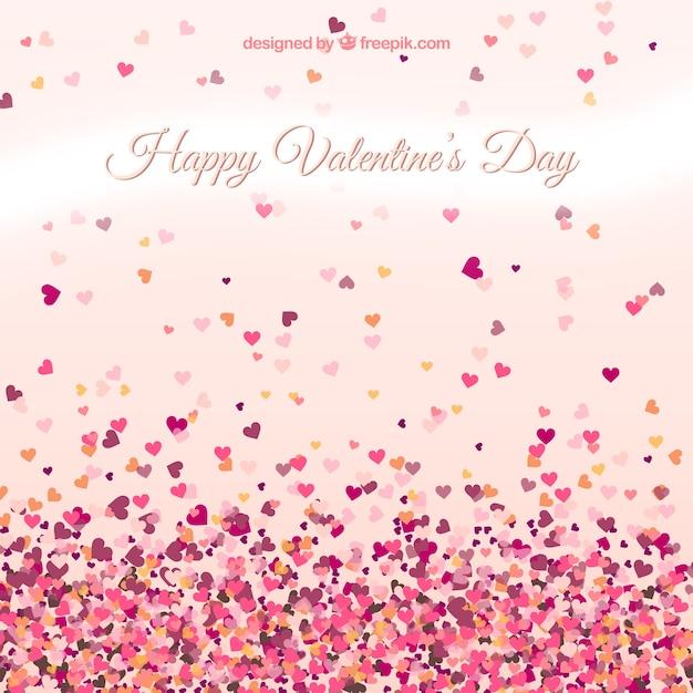 Valentinstag Karte Mit Kleinen Herzen Kostenlose Vektoren