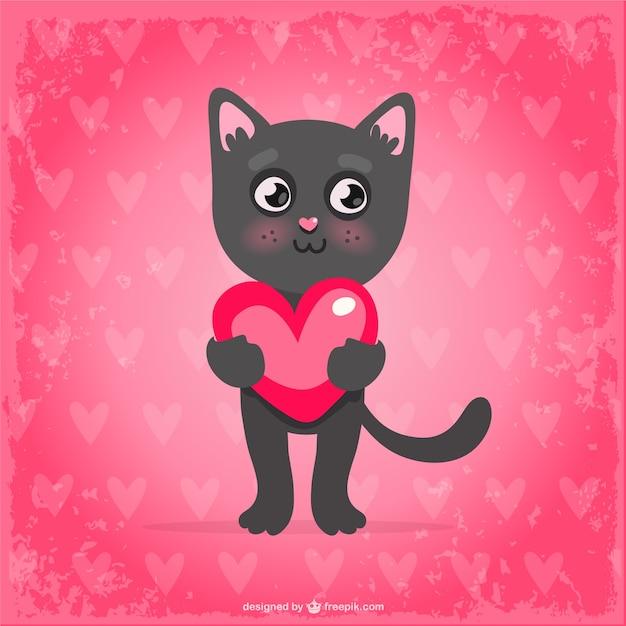 Catnip Toys For Valentine S Day : Valentinstag katze download der kostenlosen vektor