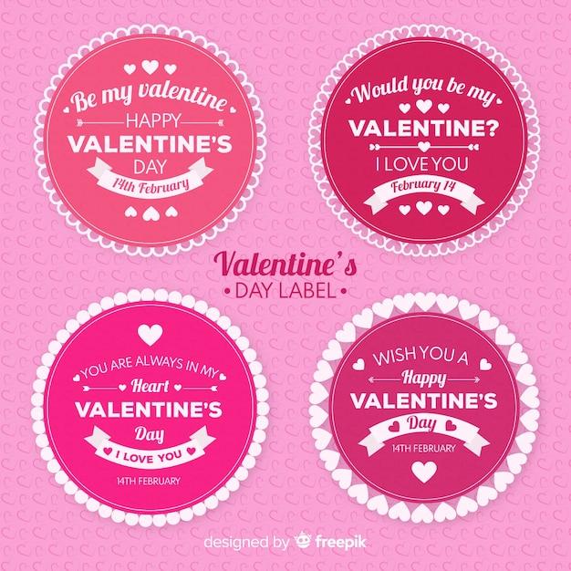 Valentinstag-labelsammlung Kostenlosen Vektoren
