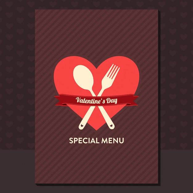 Valentinstag menü design Premium Vektoren