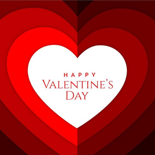 Valentinstag mit herzvektor papercut hintergrund Premium Vektoren