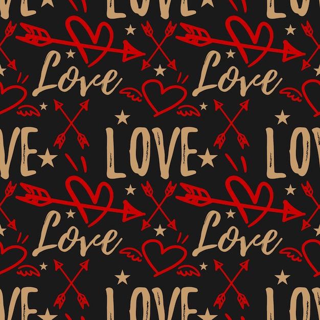 Valentinstag nahtlose muster. Premium Vektoren