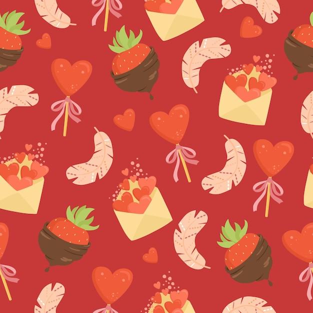 Valentinstag nahtloses muster Kostenlosen Vektoren