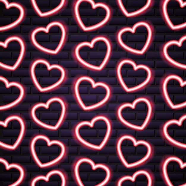 Valentinstag neon Premium Vektoren