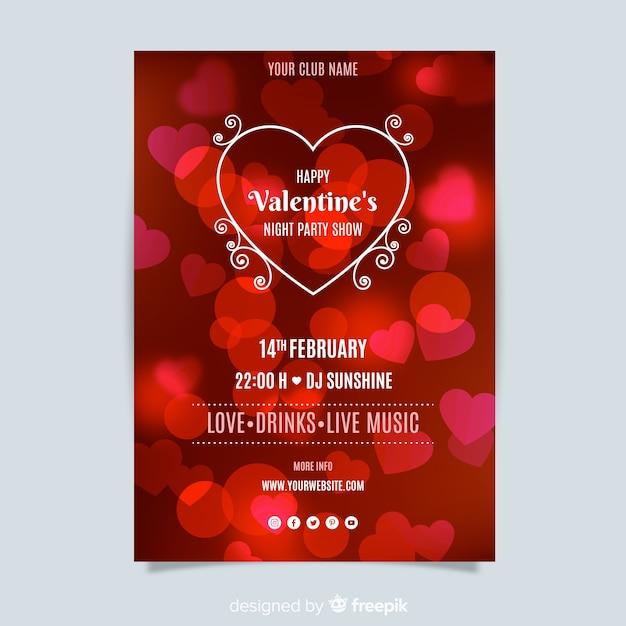 Valentinstag-party flyer vorlage Kostenlosen Vektoren