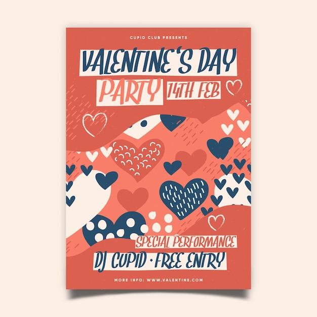 Valentinstag party poster Kostenlosen Vektoren