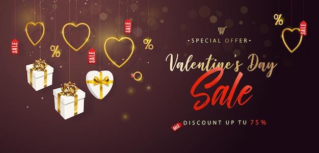 Valentinstag sale banner Premium Vektoren