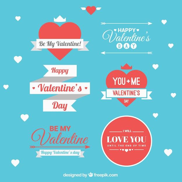 Valentinstag schleife pack Kostenlosen Vektoren