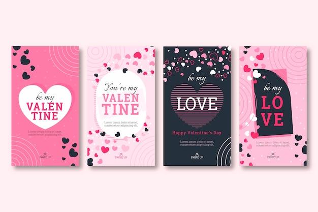 Valentinstag story pack Kostenlosen Vektoren