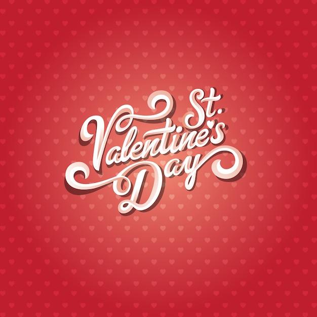 Valentinstag text schriftzug kalligraphische komposition Premium Vektoren